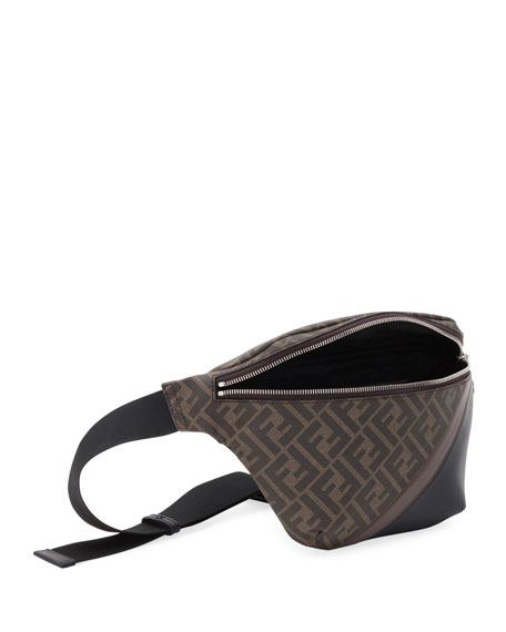 Fendi Men's FF Logo-Pattern Belt Bag