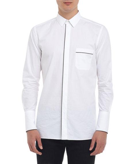 Fendi Men's Multi-Piping Poplin Shirt