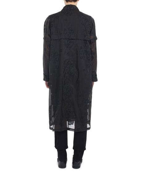 Fendi Men's Faded-FF Sheer Parka Coat