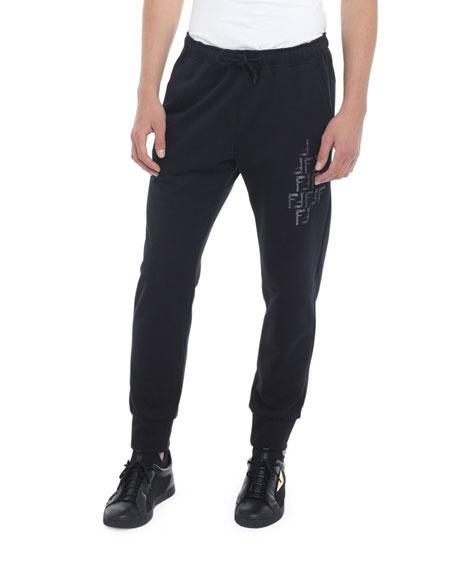 Fendi Men's Faded-FF Sweatpants