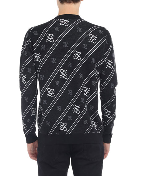 Fendi Men's Karligraphy Wool Sweater