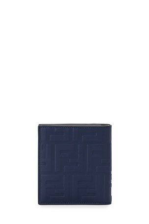 Fendi Men's Embossed FF Leather Wallet