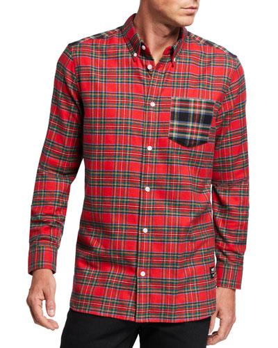 Men's Olavi Tartan Plaid Sport Shirt