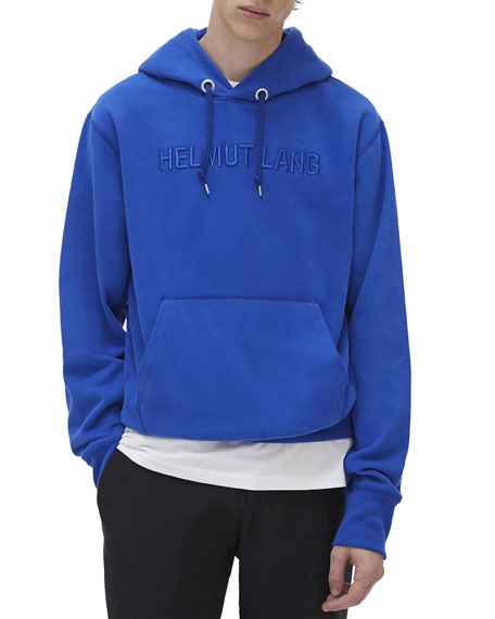 Helmut Lang Accessories Men's Tonal Embroidered-Logo Pullover Hoodie