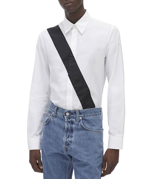 Helmut Lang Dresses Men's Slash-Band Dress Shirt