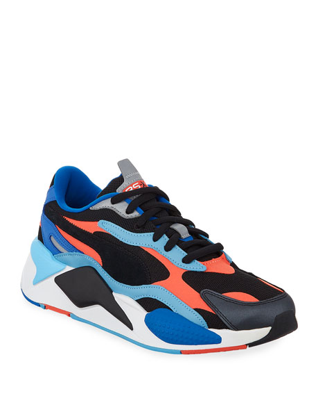 Image 1 of 4: Men's RS-X3 Level Up Colorblock Running Sneakers