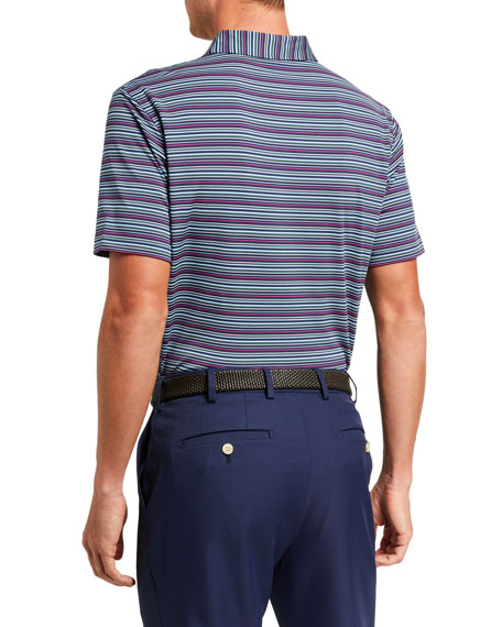 Peter Millar Men's Fox Stripe Stretch Jersey Polo Shirt