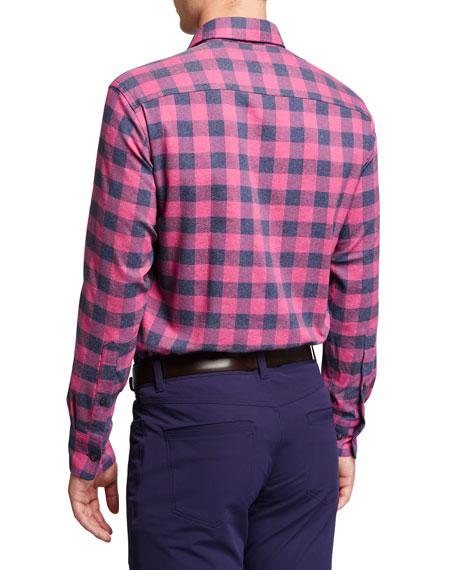 Peter Millar Men's Jasper Buffalo Plaid Sport Shirt