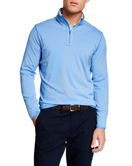 Peter Millar Sweaters Men's Hobart Striped Quarter-Zip Sweater
