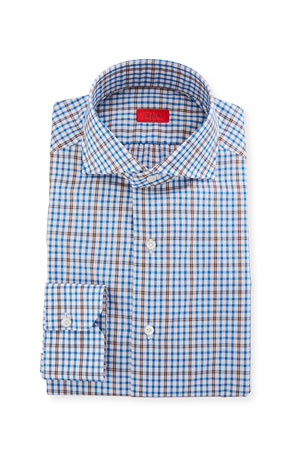 Isaia Men's Check Dress Shirt