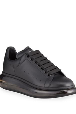 Alexander McQueen Men's Oversized Clear-Sole Sneakers