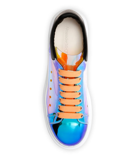 Alexander McQueen Men's Iridescent Oversized Sneakers