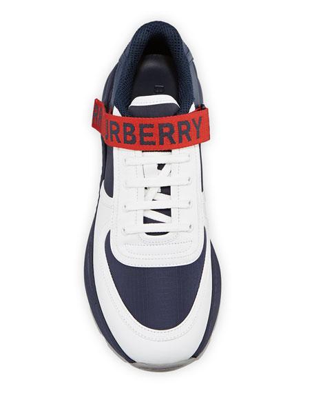 Burberry Men's Ronnie Logo-Strap Colorblock Sneakers