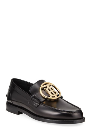 Burberry Men's Emile TB Leather Loafers