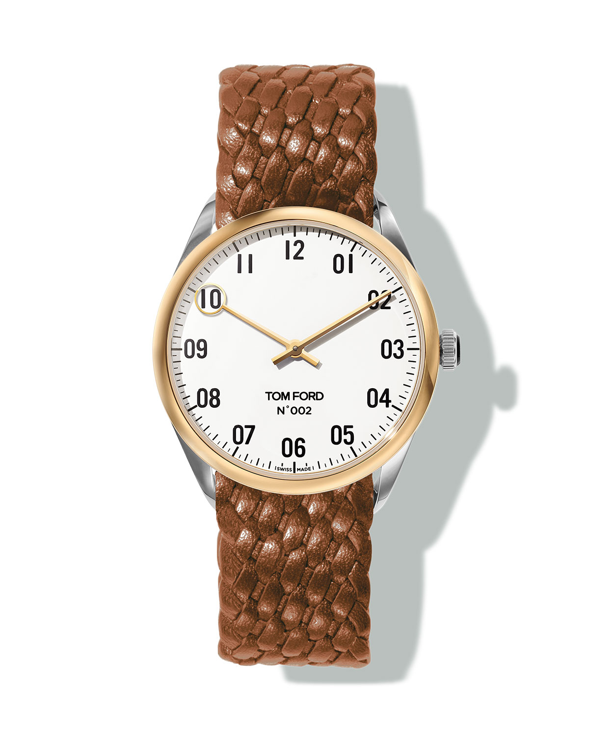 TOM FORD TIMEPIECES N.002 38mm Round Leather Watch