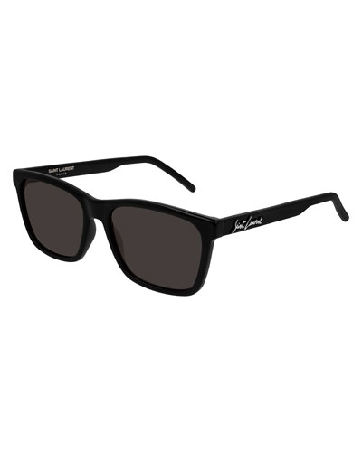 Men's Square Solid Injection Sunglasses