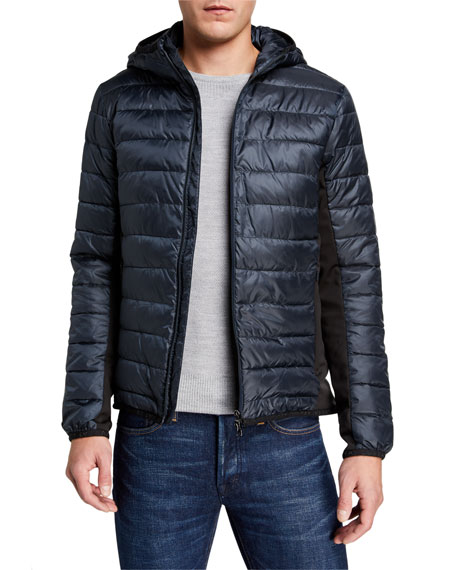 Emporio Armani Men's Light-Padded Hooded Jacket