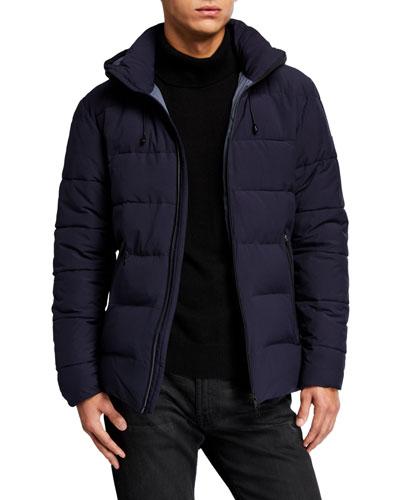 Men's Solid Mountain Puffer Jacket