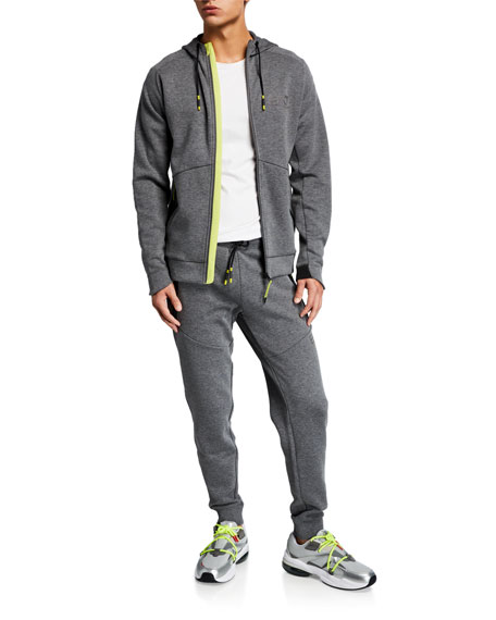 Emporio Armani Men's Heathered Neon-Trim Sweatpants