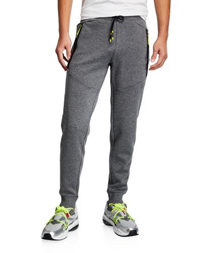 Men's Heathered Neon-Trim Sweatpants