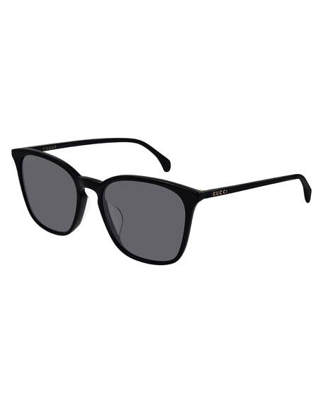 Gucci Men's Solid Square Acetate Sunglasses
