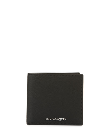 Alexander McQueen Men's Core Logo Leather Wallet