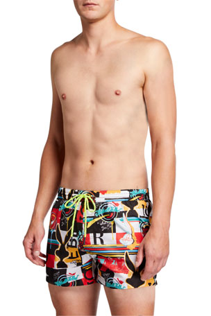 Iceberg Men's Merrie Medodies Graphic Swim Shorts