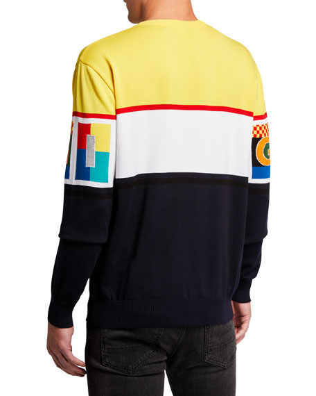 Image 2 of 2: Iceberg Men's Graphic Logo Crewneck Sweater