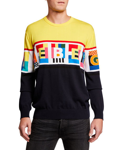 Image 1 of 2: Iceberg Men's Graphic Logo Crewneck Sweater