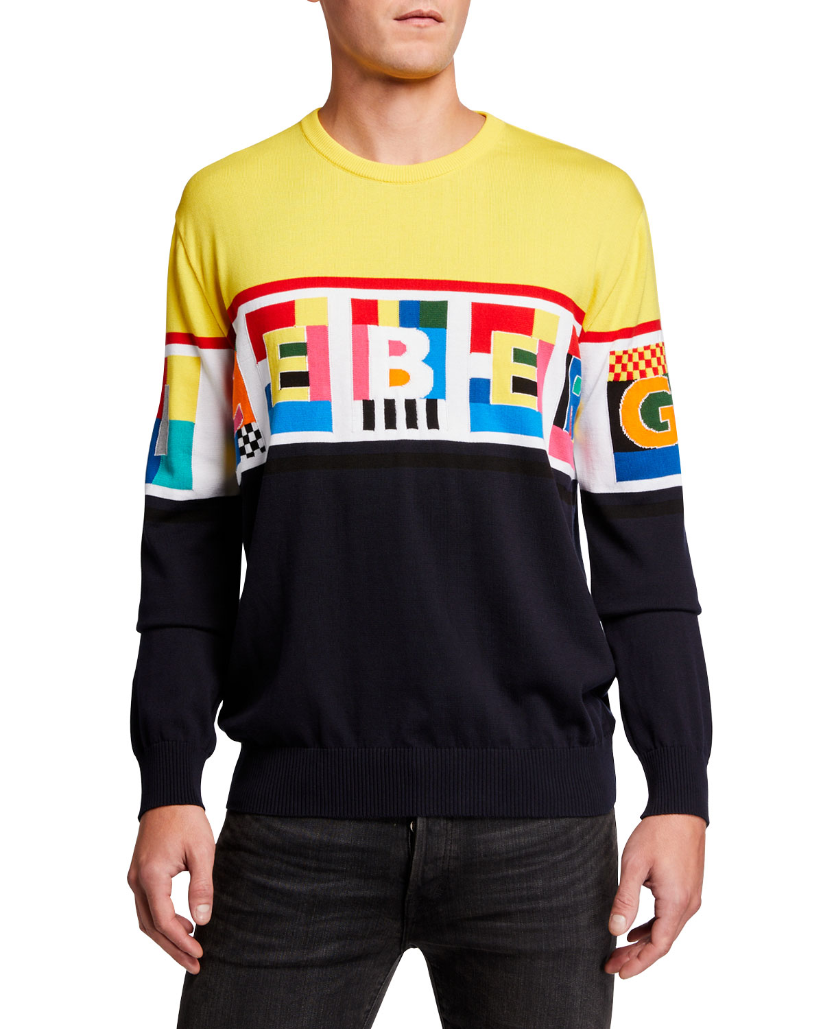 Iceberg Men's Graphic Logo Crewneck Sweater