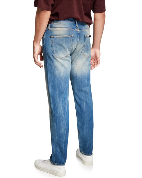 Image 2 of 3: Ovadia Men's Tapered Straight-Leg Gate Jeans