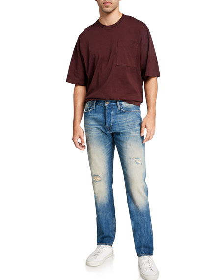 Image 3 of 3: Ovadia Men's Tapered Straight-Leg Gate Jeans