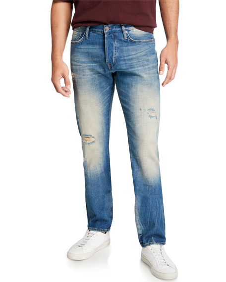 Image 1 of 3: Ovadia Men's Tapered Straight-Leg Gate Jeans
