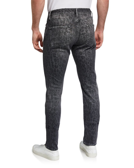 Image 2 of 3: Ovadia Men's Slim Leopard-Pattern Jeans