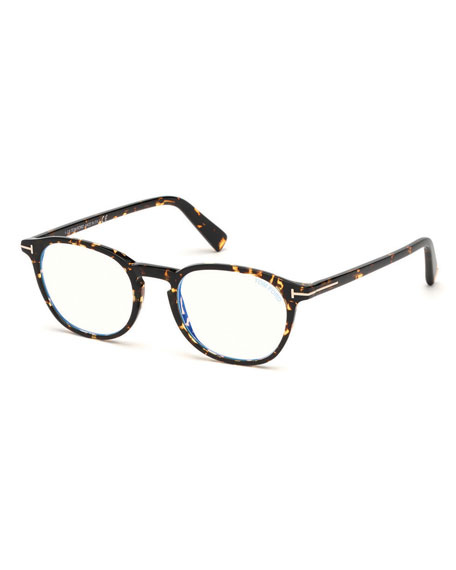 Image 1 of 1: Blue Block Square Acetate Optical Frames