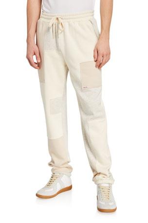 Ovadia Men's Patchwork Fleece Sweatpants