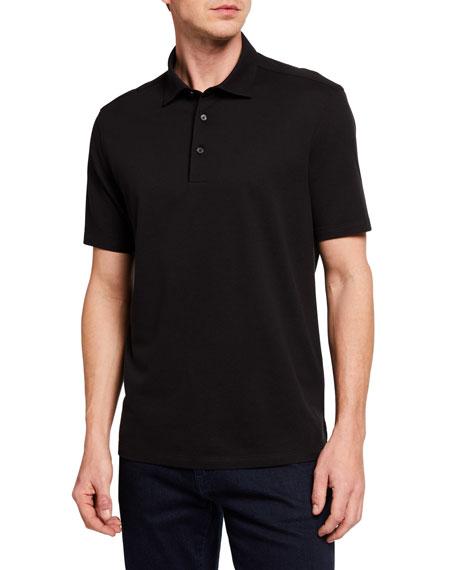 Ermenegildo Zegna Men's Solid Cotton/Silk Polo Shirt