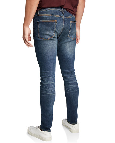 Ovadia Men's Skinny Indigo Resin Jeans