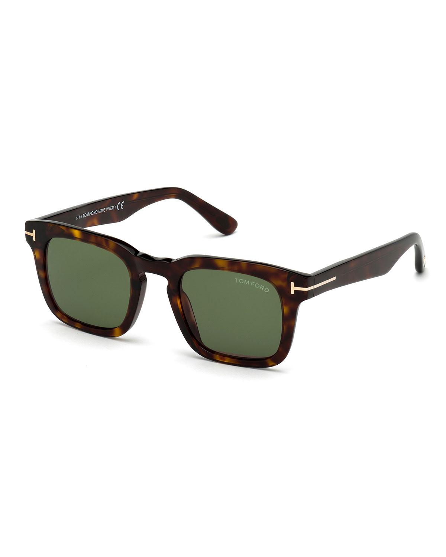 Tom Ford Men S Dax Square Tortoiseshell Sunglasses Neiman Marcus