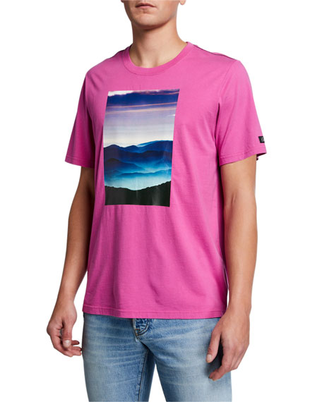 Image 1 of 2: Ovadia Men's Tatra Landscape Graphic T-Shirt