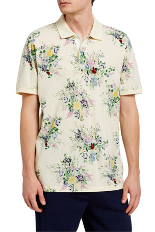 Ovadia Men's Floral-Print Polo Shirt