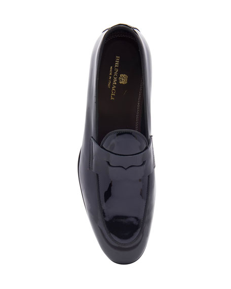 Bruno Magli Men's Cardoza Patent Leather Penny Loafers