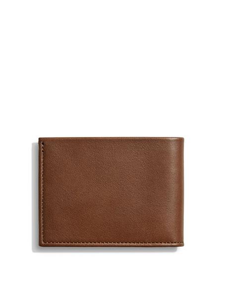 Shinola Men's Slim Heritage Leather Bifold Wallet