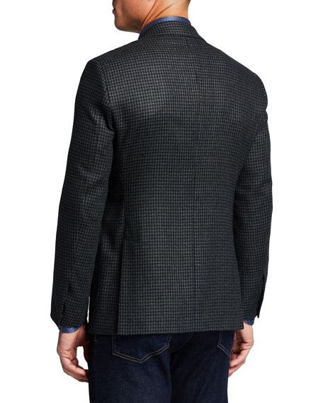 Image 2 of 3: Atelier Munro Men's Houndstooth Check Sport Jacket