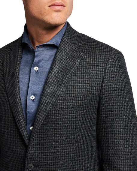 Image 3 of 3: Atelier Munro Men's Houndstooth Check Sport Jacket