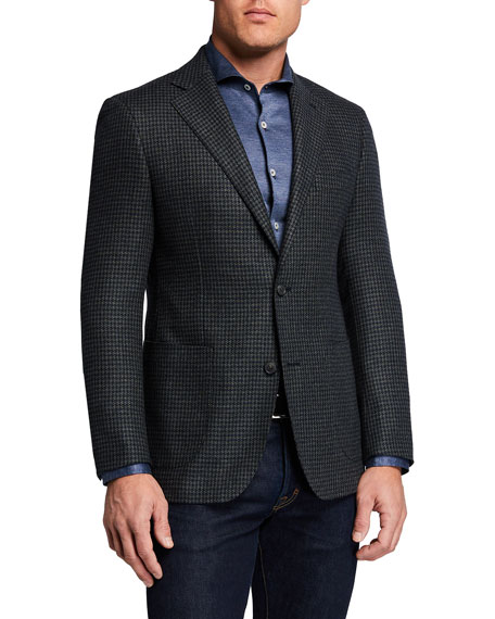 Image 1 of 3: Atelier Munro Men's Houndstooth Check Sport Jacket