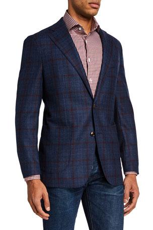 Atelier Munro Men's Plaid Wool Sport Jacket