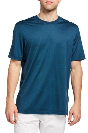 Ermenegildo Zegna Men's Leggerissmo Cotton-Silk Regular-Fit Shirt