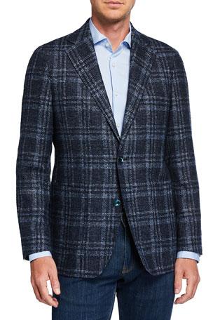Atelier Munro Men's Boucle Plaid Sport Jacket