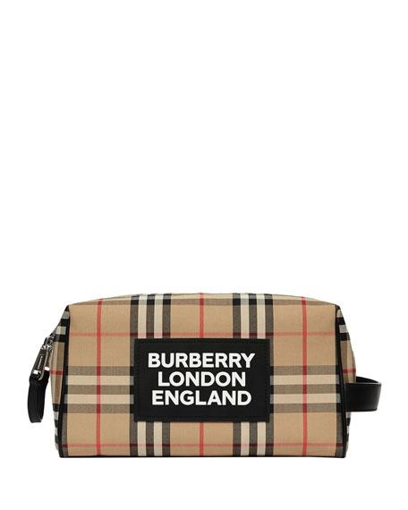 Burberry Cases Men's Hart Vintage Check Toiletry Case